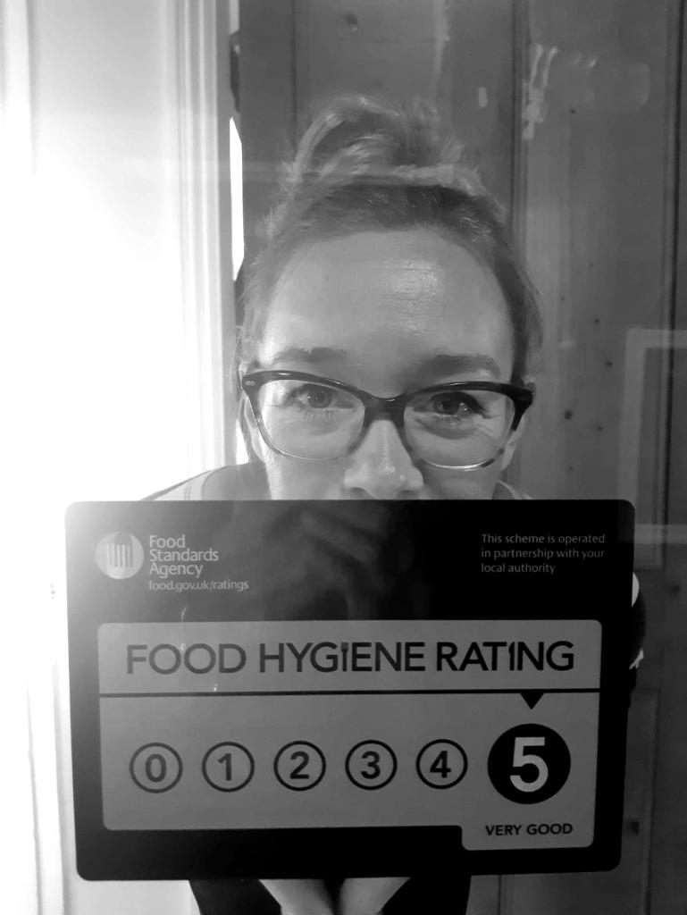 5 star hygiene rating baby!